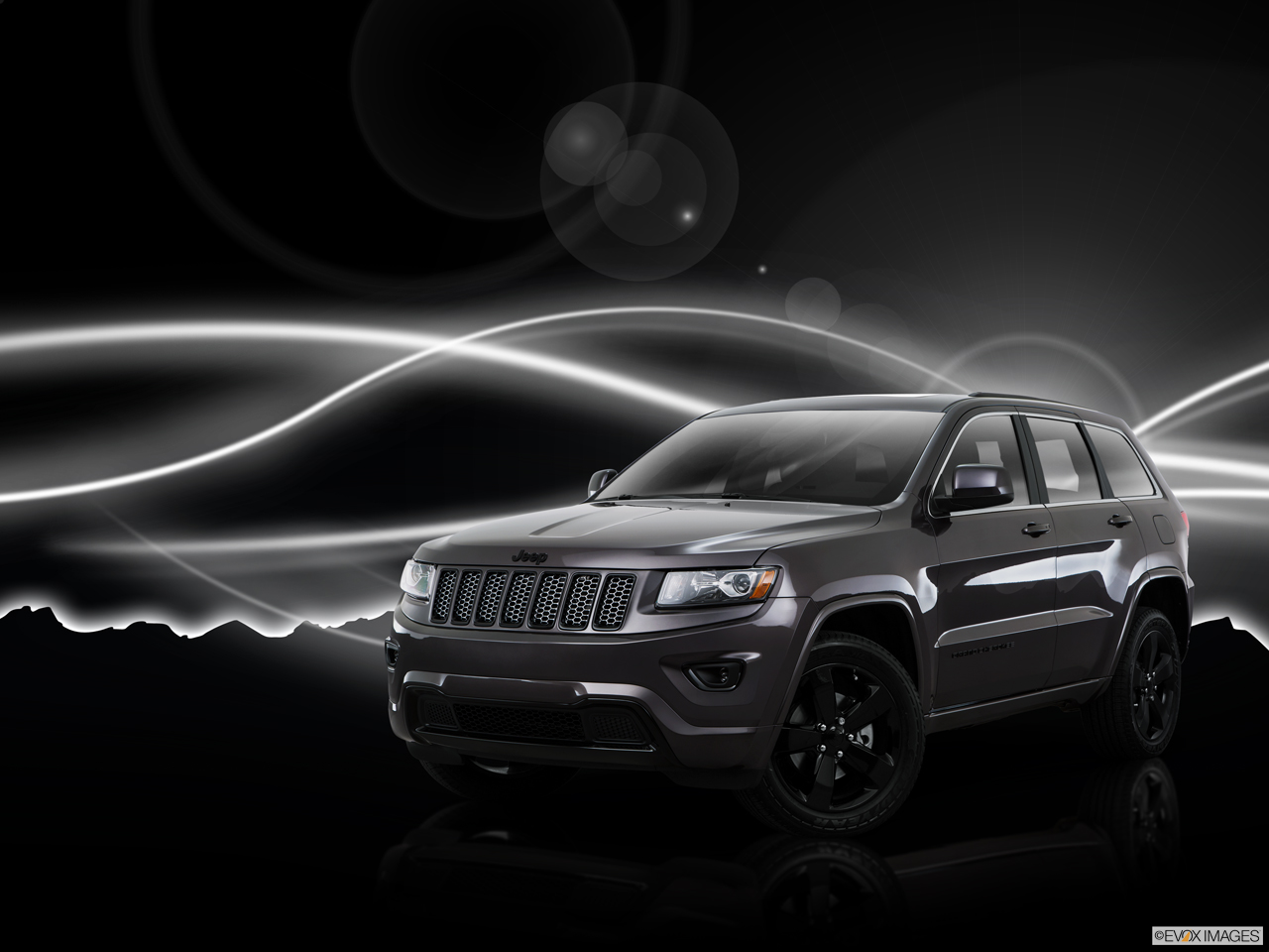 Exterior View Of 2015 Jeep Grand Cherokee in Huntington Beach