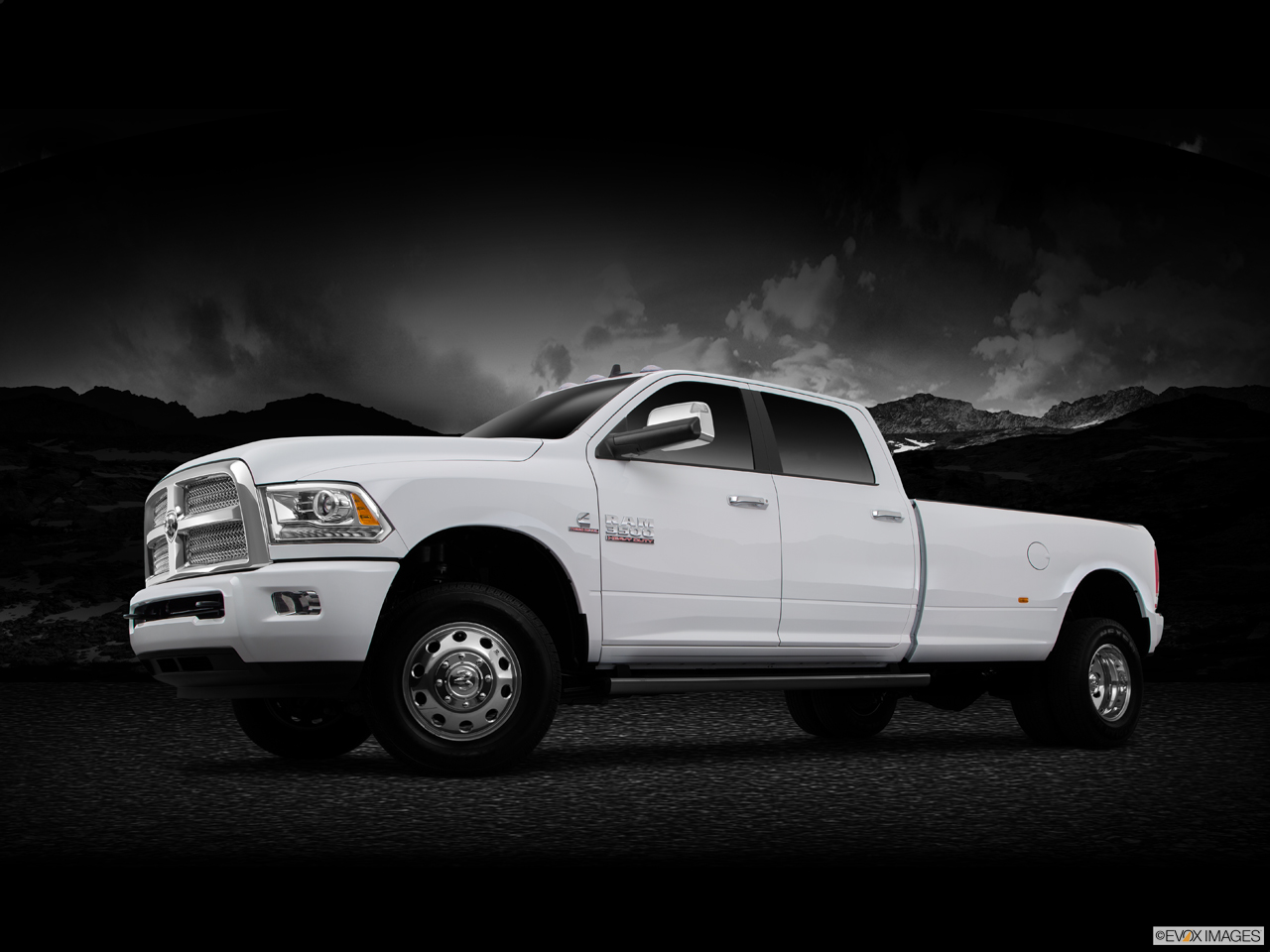 Exterior View Of 2015 RAM 3500 in Huntington Beach