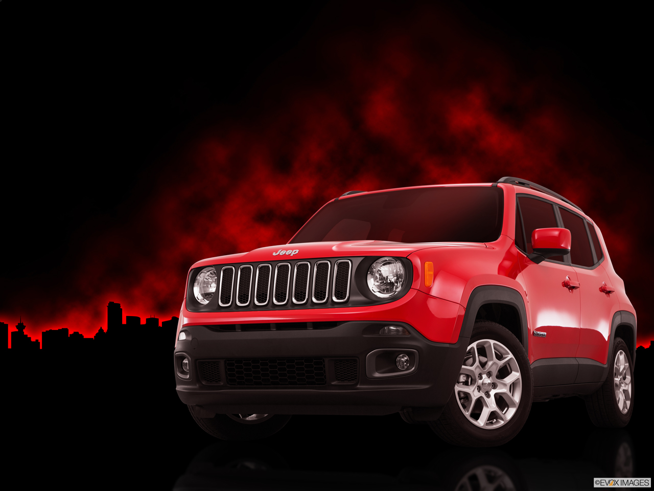 Exterior View Of 2015 Jeep Renegade in Orange County