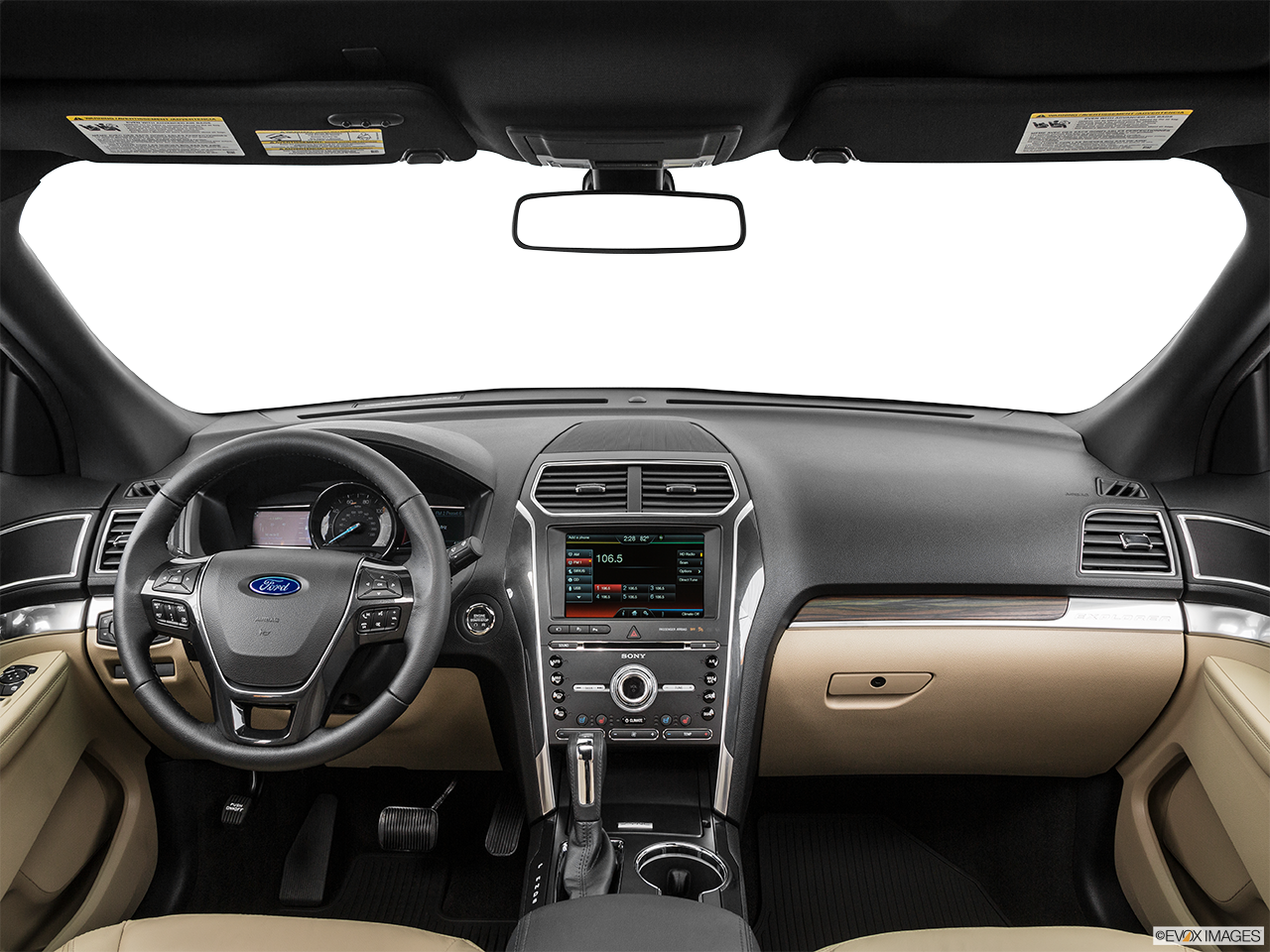 Interior View Of 2017 Ford Explorer in Huntington Beach