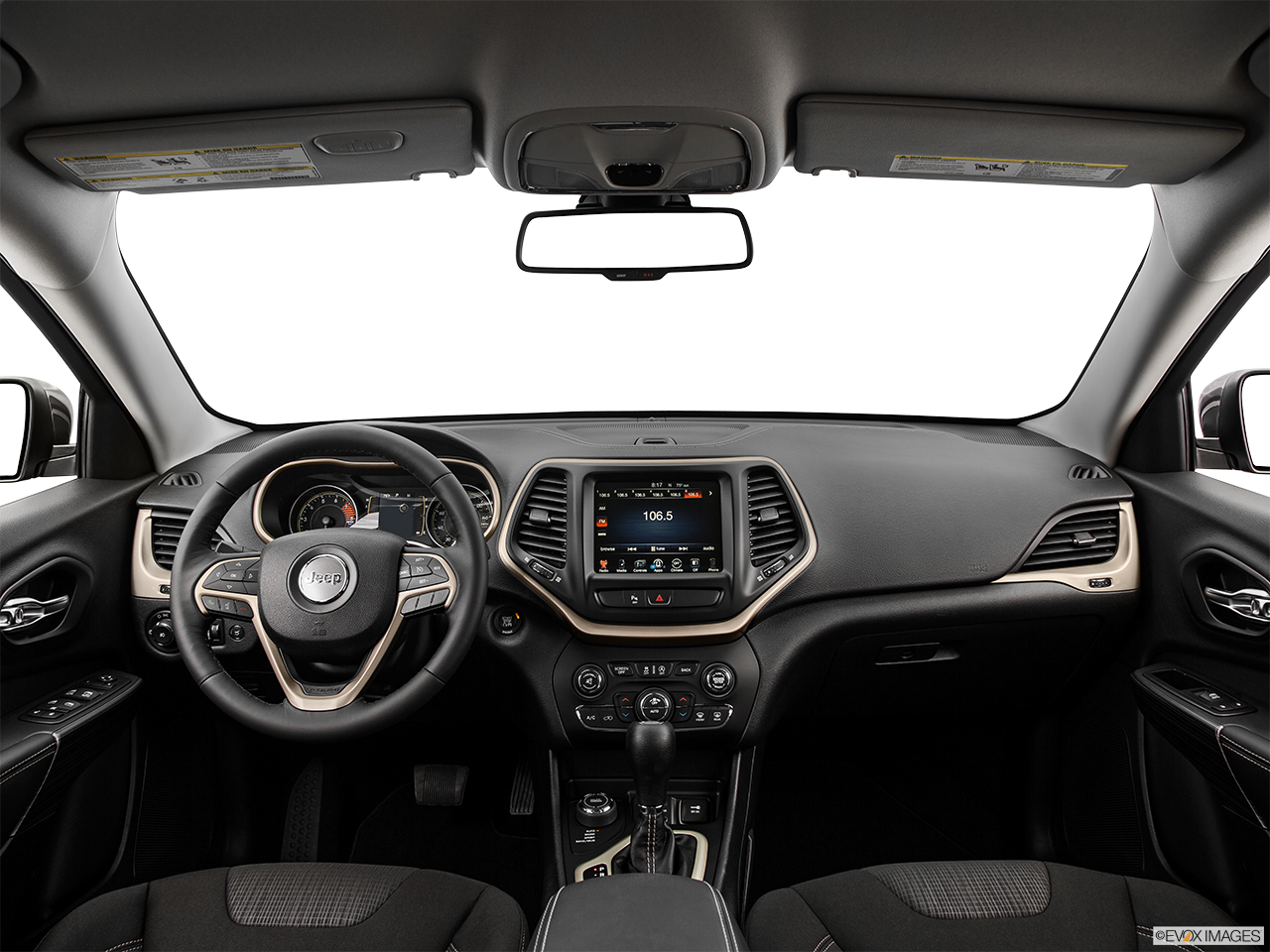 Interior View Of 2016 Jeep Cherokee in Tracy