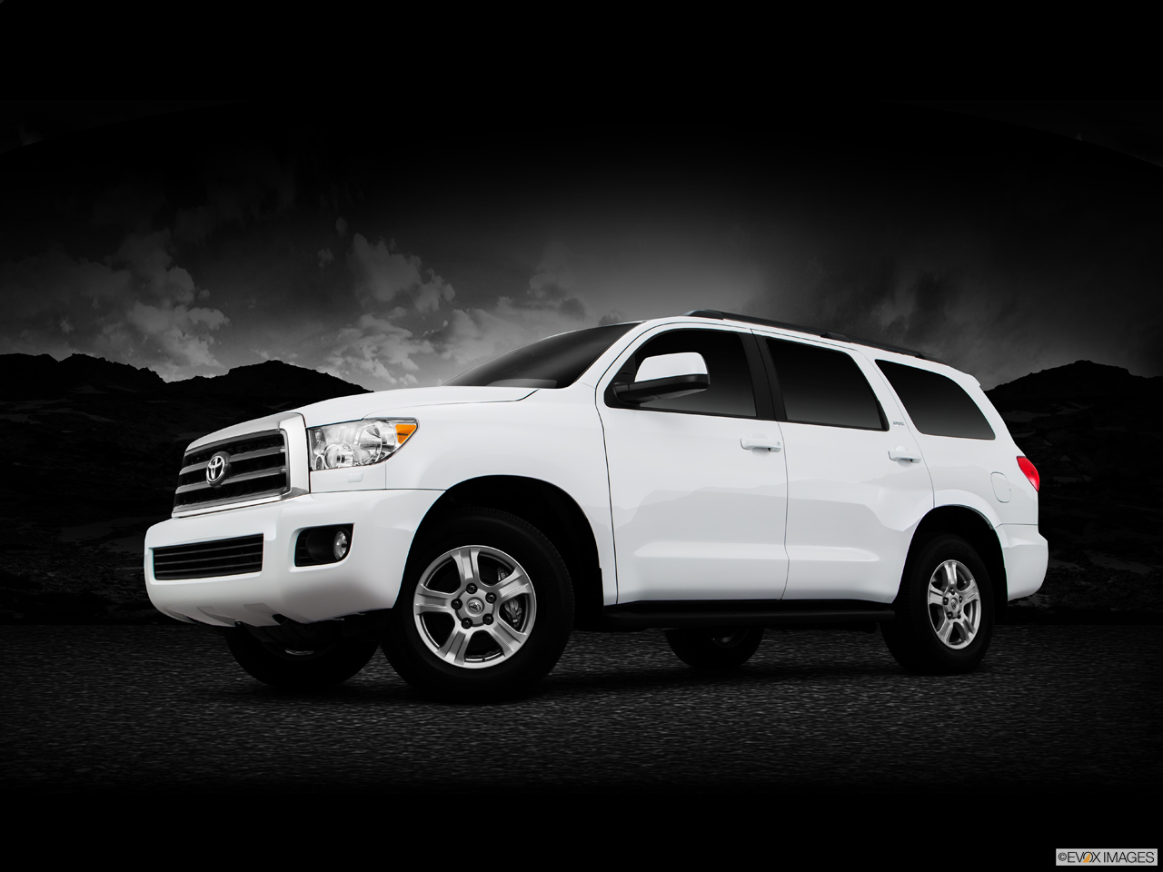 Exterior View Of 2016 Toyota Sequoia in Tustin