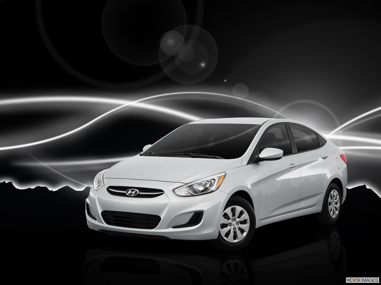 Exterior View Of 2016 Hyundai Accent in Tracy