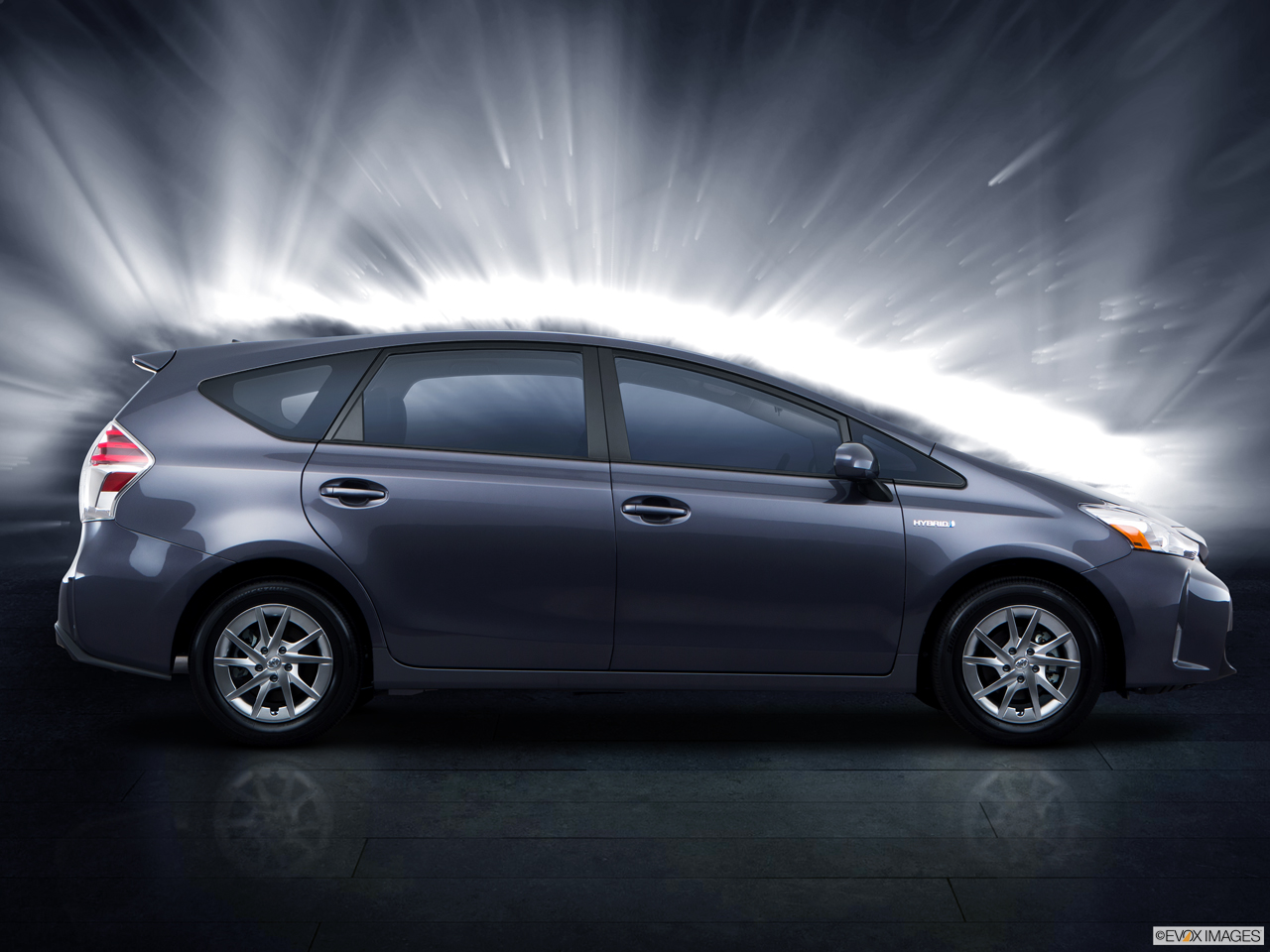 Exterior View Of 2016 Toyota Prius V in Tustin