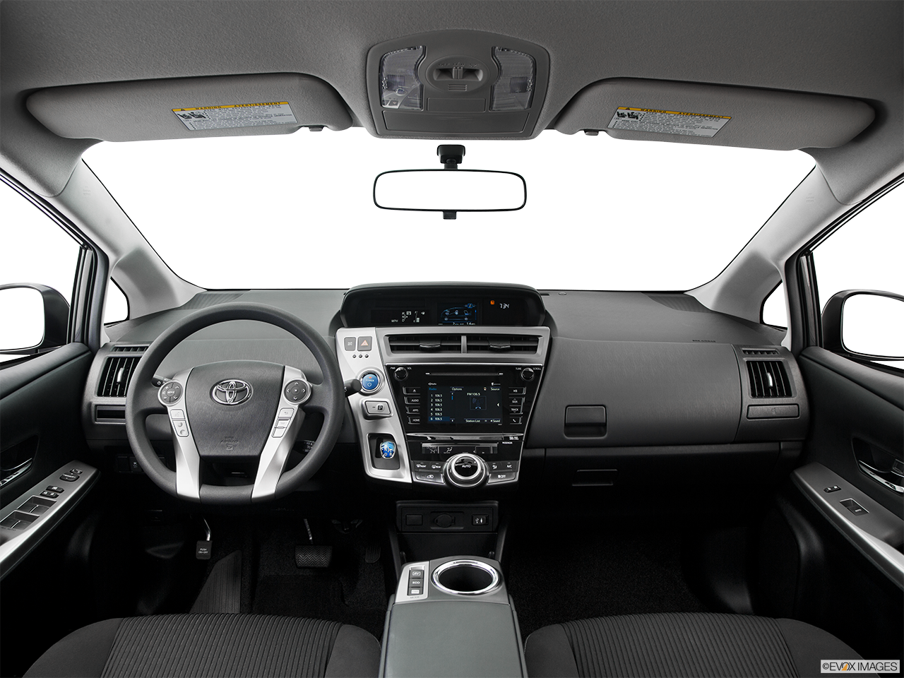 Interior View Of 2016 Toyota Prius V in Tustin