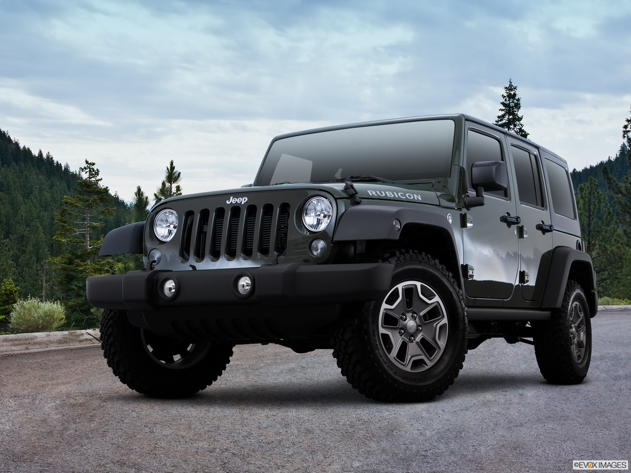 Exterior View Of 2016 Jeep Wrangler Unlimited in Tracy