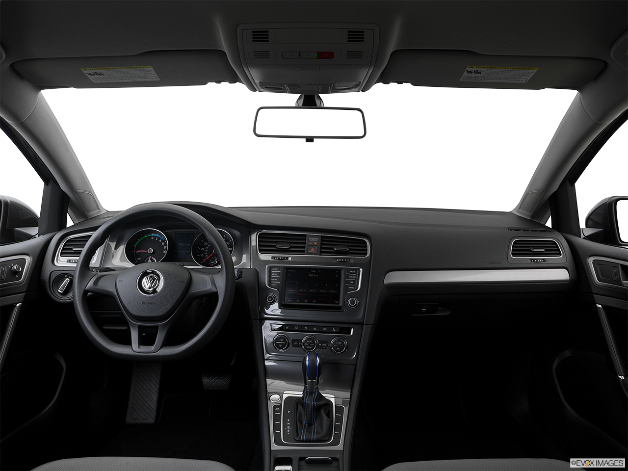 Interior View Of 2016 Volkswagen e-Golf in Los Angeles
