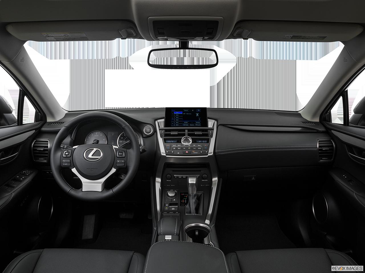 Interior view of 2016 lexus nx 200t los angeles