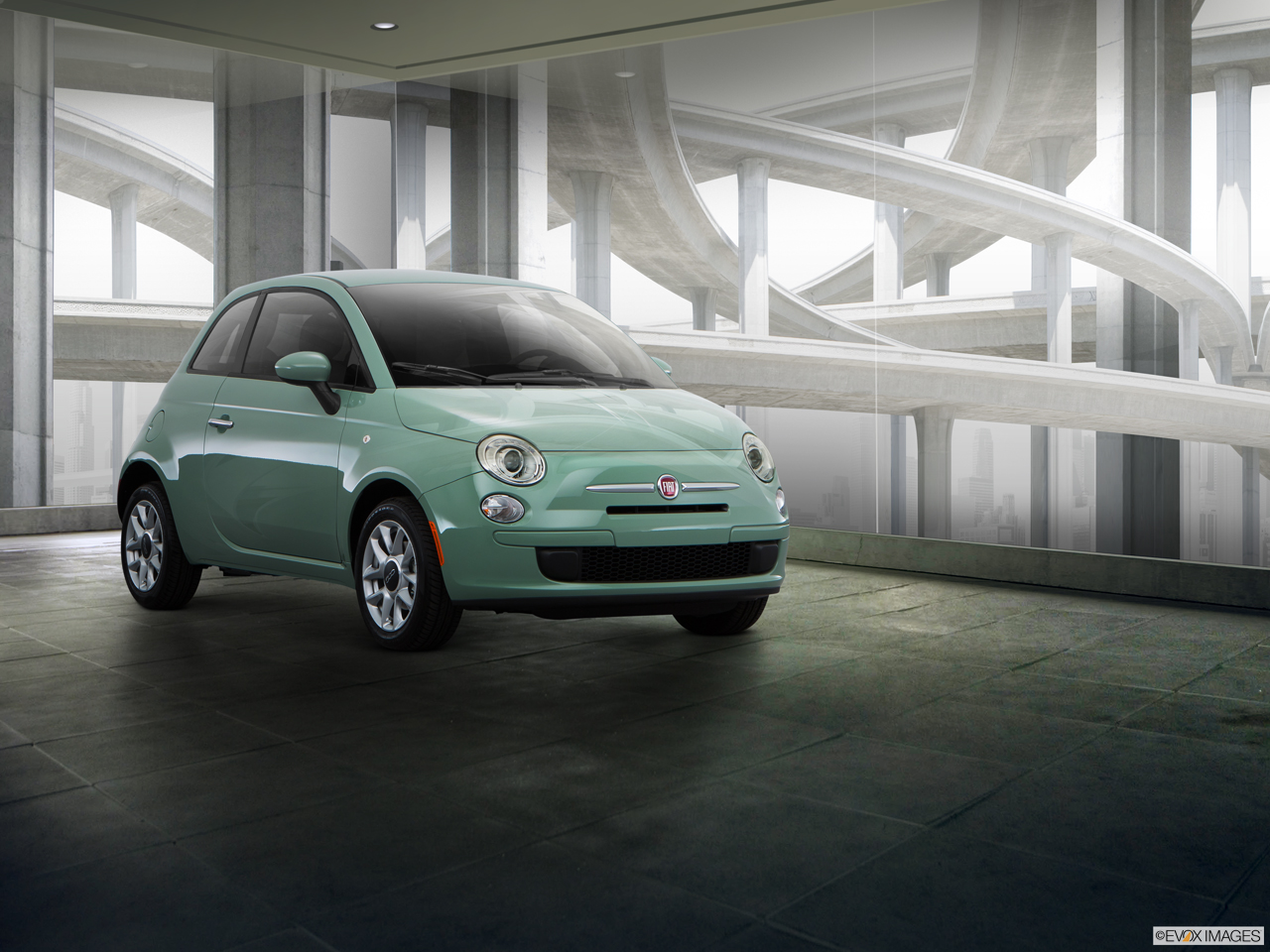 Exterior View Of 2016 Fiat 500 in West Palm Beach
