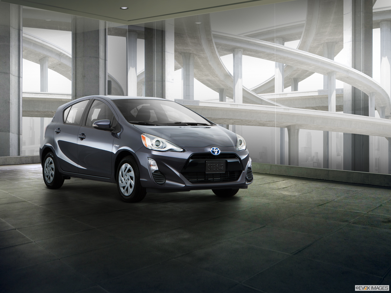 Exterior View Of 2016 Toyota Prius C in Tustin