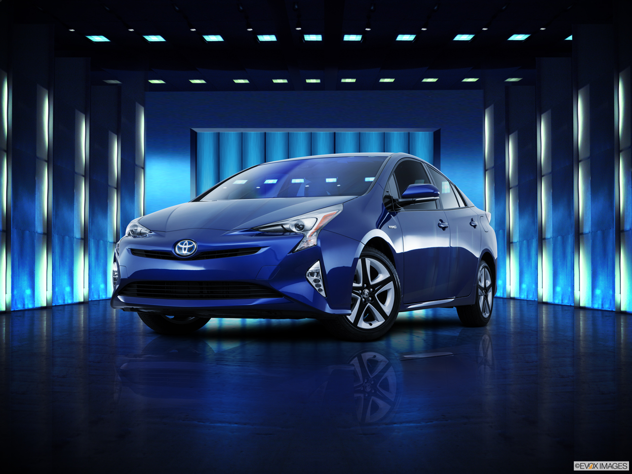 Exterior View Of 2016 Toyota Prius in Tustin