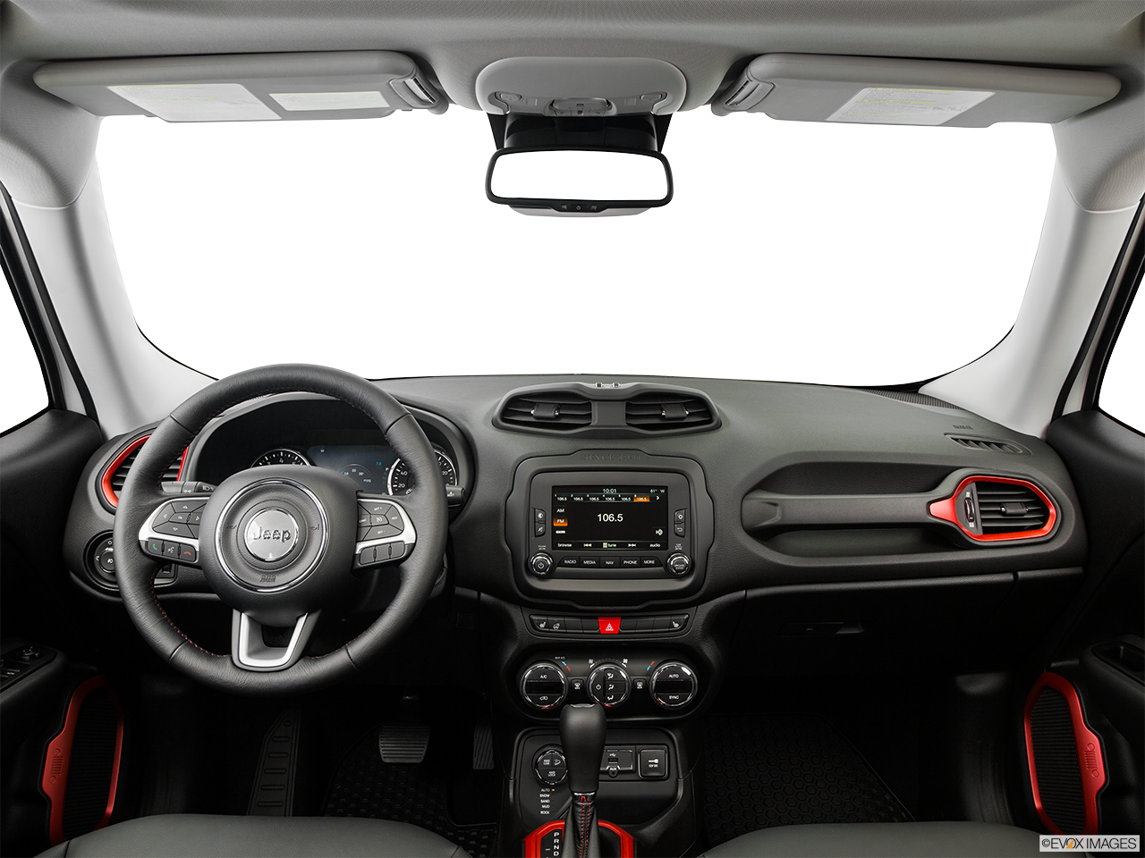 Interior View Of 2016 Jeep Renegade in Cherry Hill