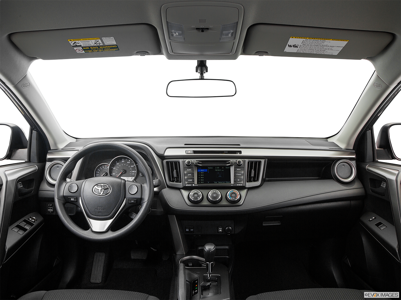 Interior view of 2016 toyota rav4 in tustin