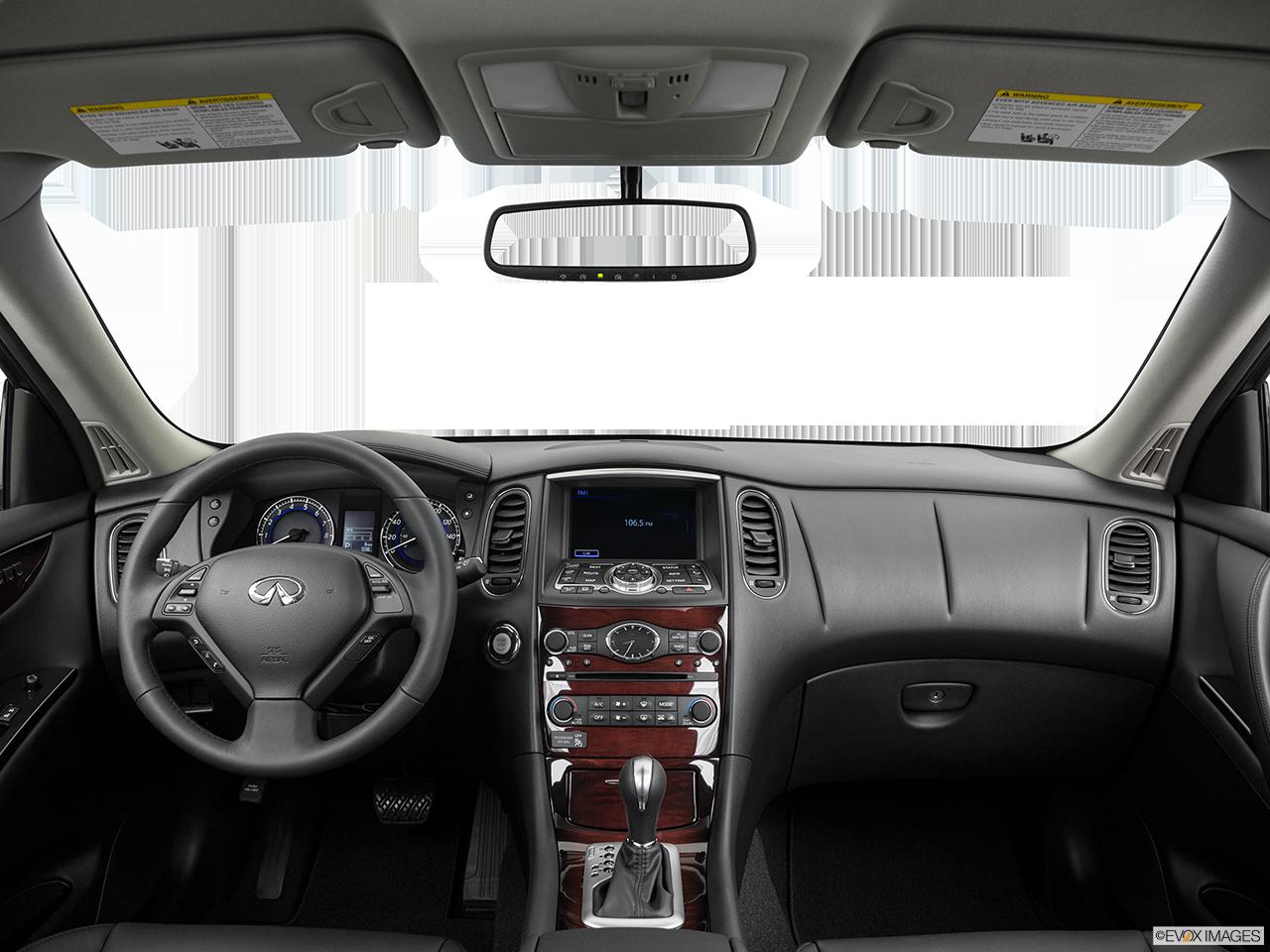Interior View Of 2017 INFINITI QX50 in Aurora