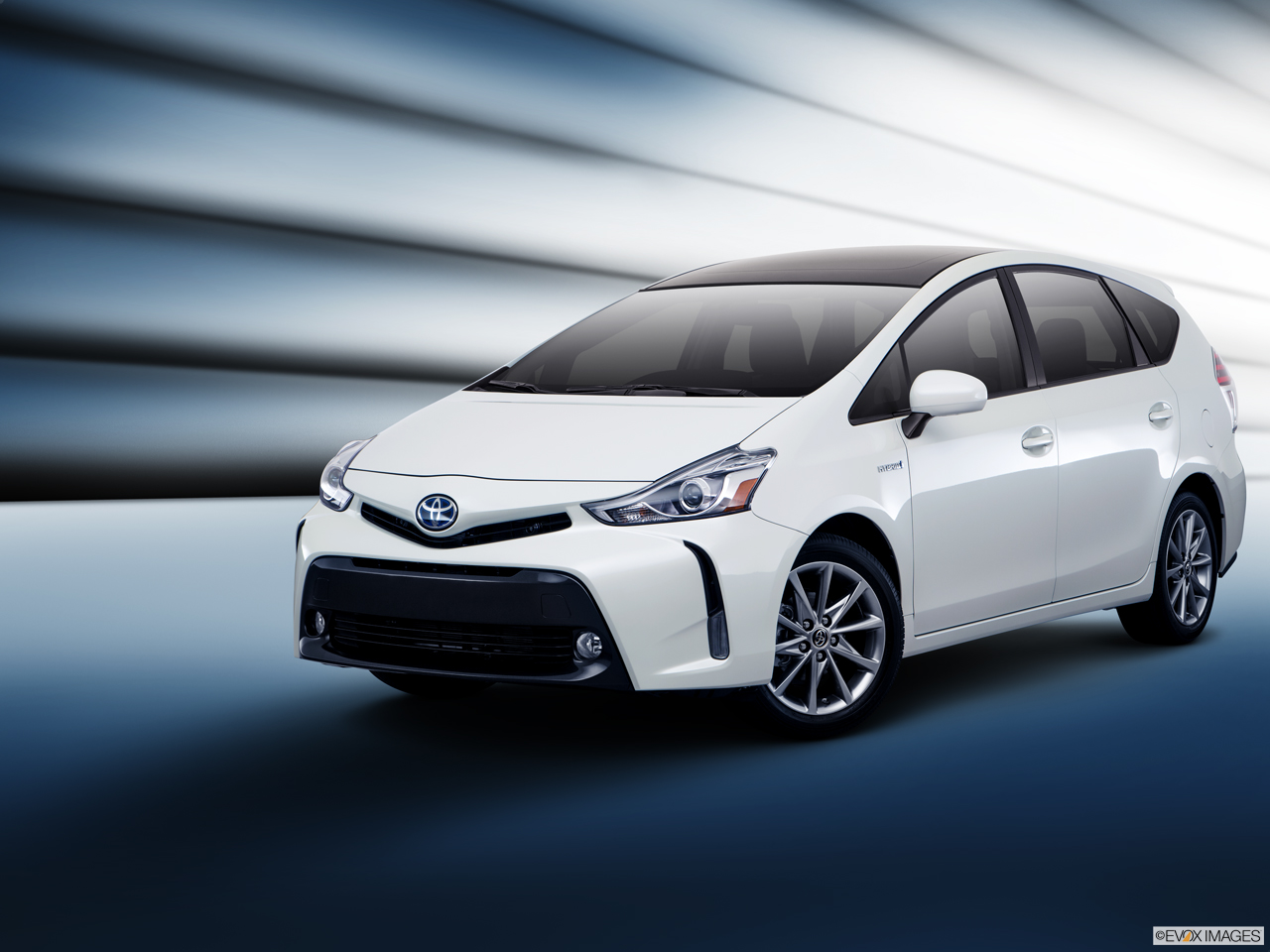 Exterior View Of 2017 Toyota Prius v Los Angeles