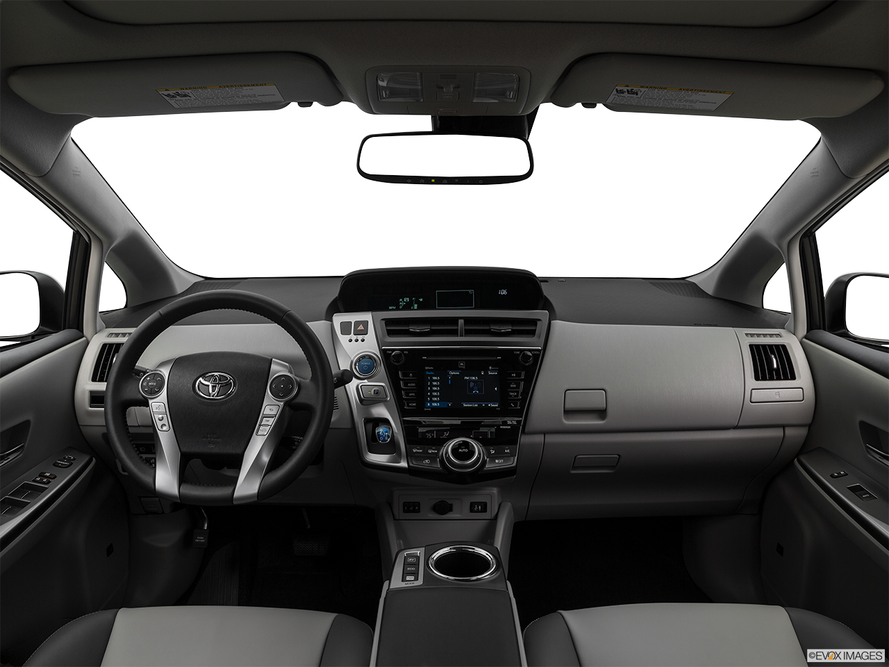 Interior View Of 2017 Toyota Prius v Los Angeles