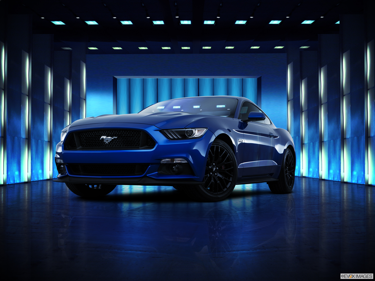 Exterior View Of 2017 Ford Mustang in Huntington Beach