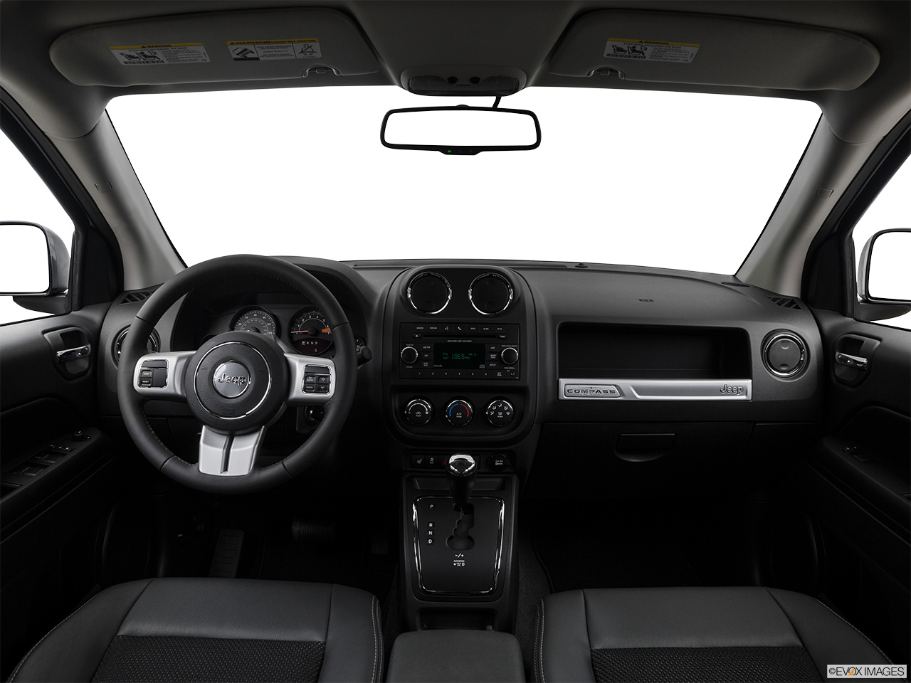 Interior View Of 2017 Jeep Compass in Fort Pierce