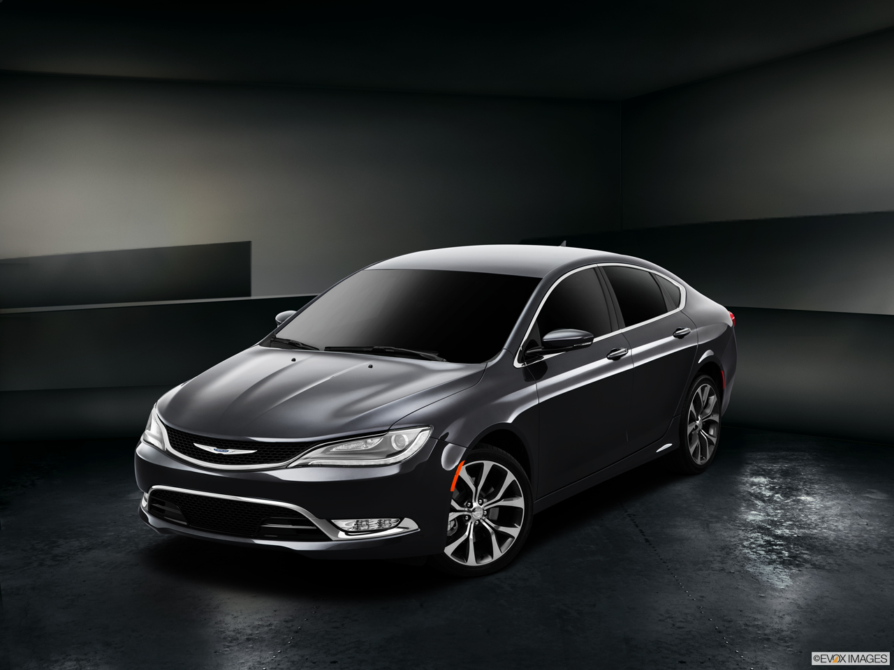 Exterior View Of 2015 Chrysler 200 in Huntington Beach