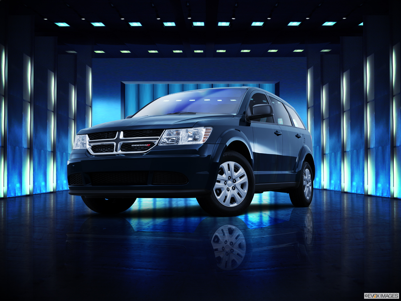 Exterior View Of 2015 Dodge Journey in Huntington Beach