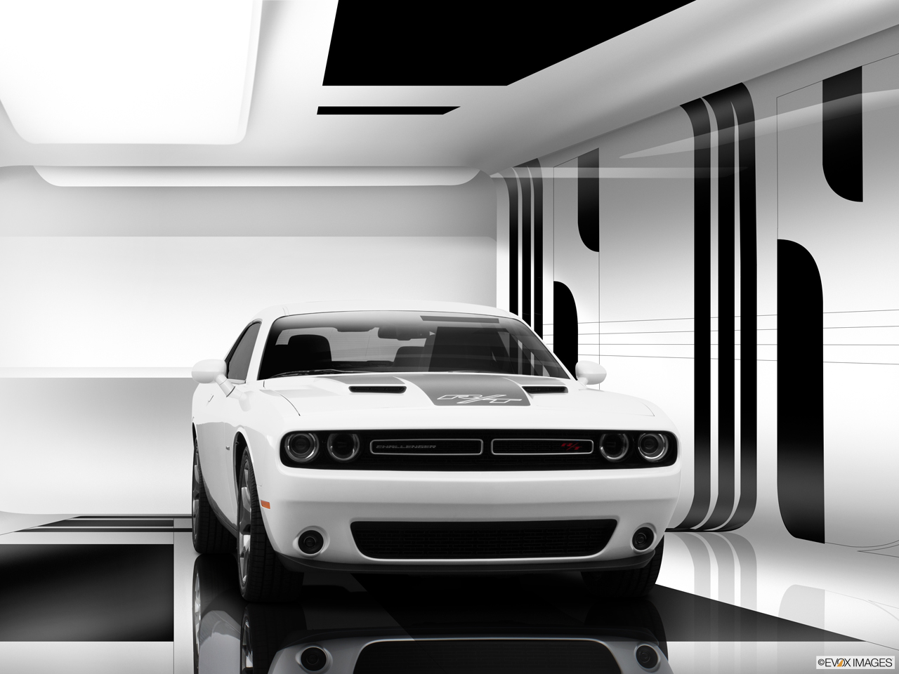 Exterior View Of 2015 Dodge Challenger in Huntington Beach