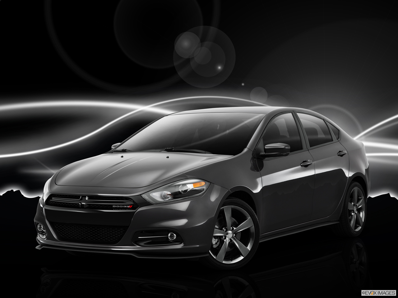 Exterior View Of 2015 Dodge Dart in Huntington Beach