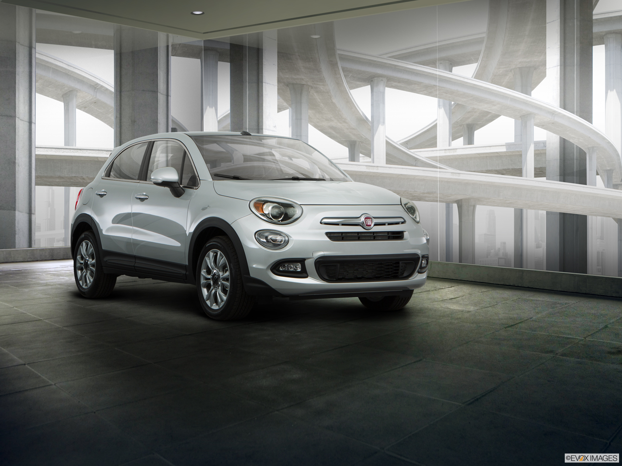 Exterior View Of 2017 Fiat 500X in Birmingham