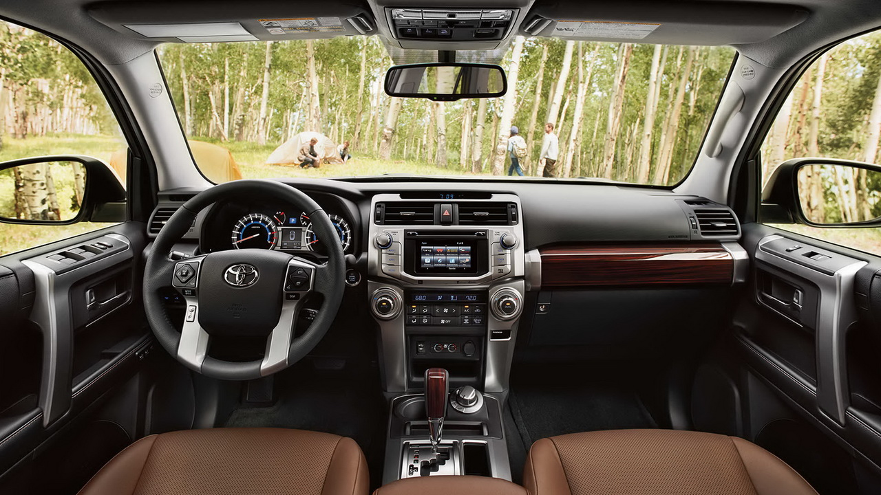 Interior view of 2016 toyota 4runner in orange