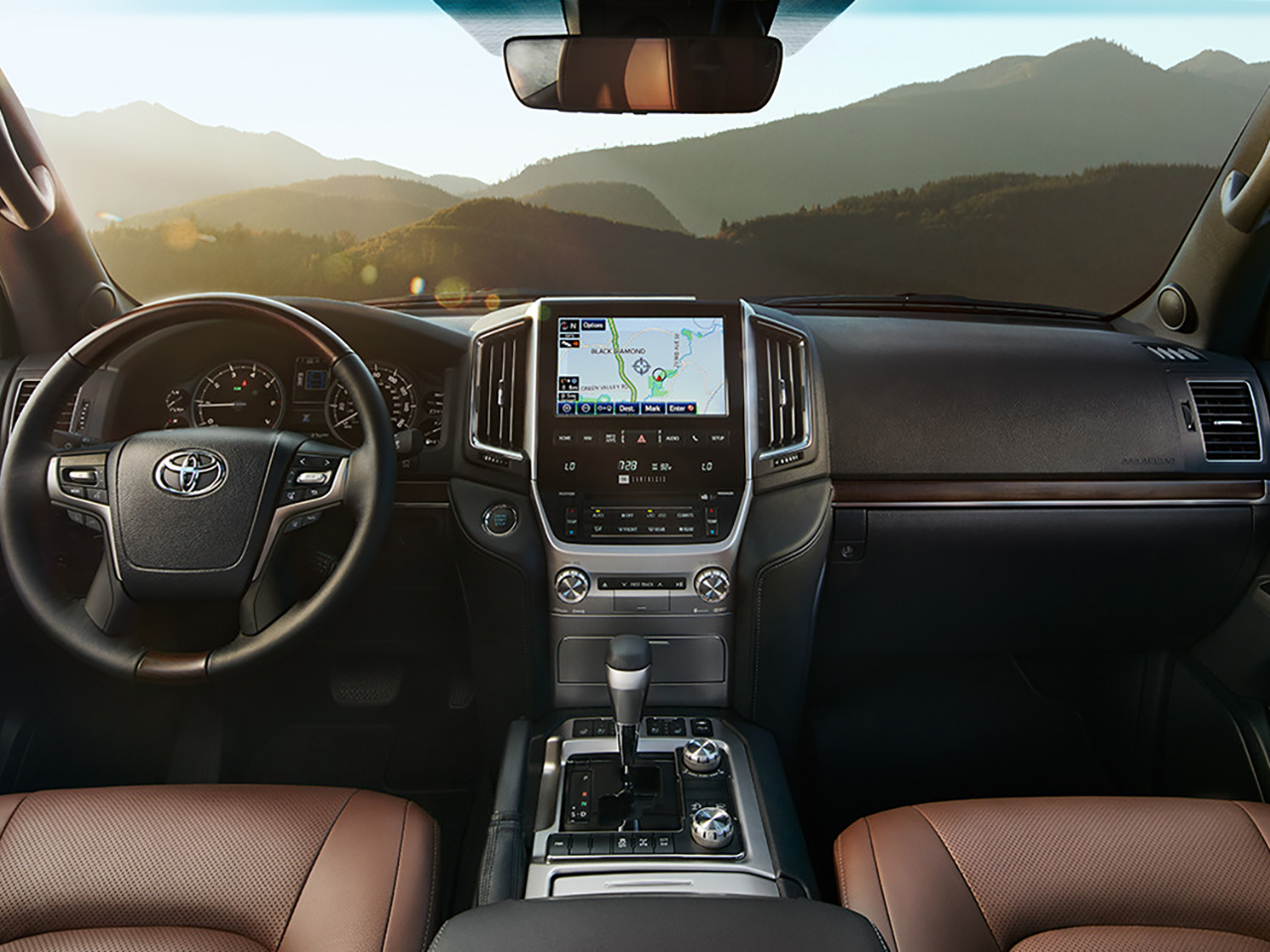 Interior View Of 2016 Toyota Land Cruiser in Glendale
