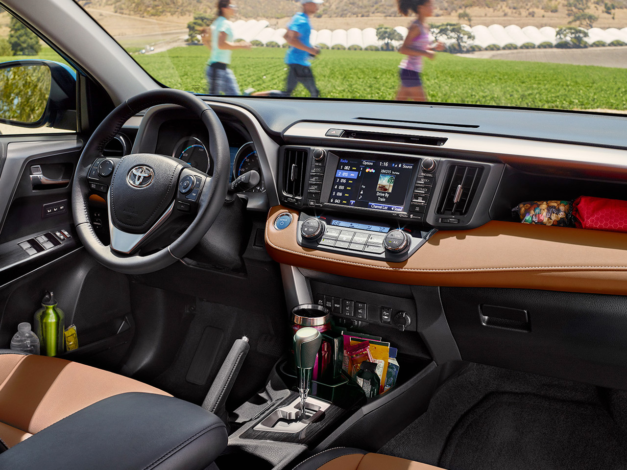 Interior View Of 2017 Toyota RAV4 in Sacramento
