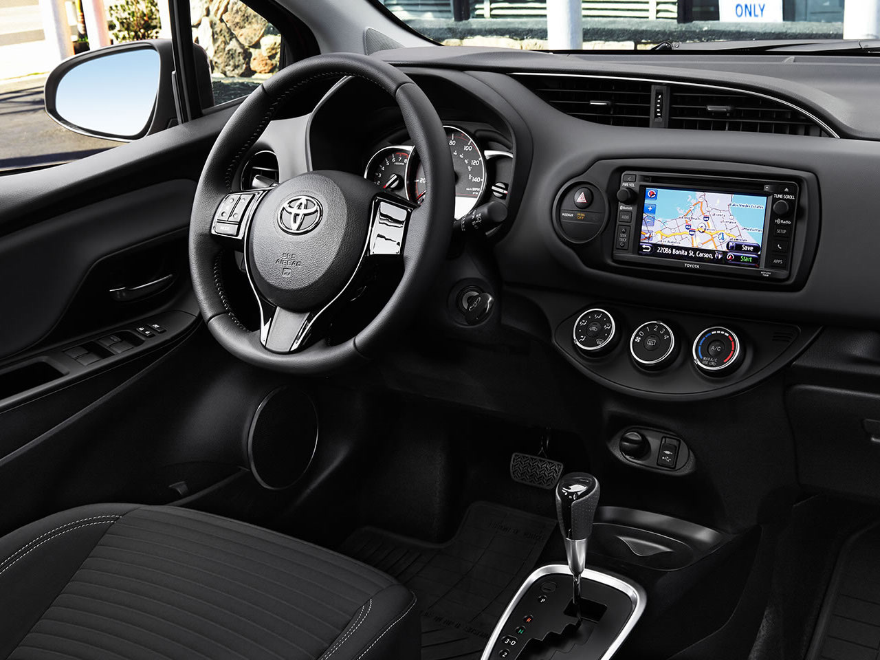 Interior View Of 2017 Toyota Yaris in Madera