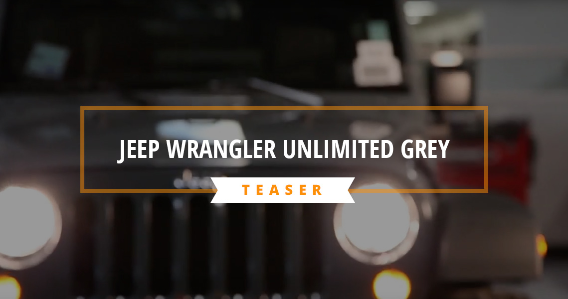STOCK to ROCK Jeep Wrangler Unlimited Grey Teaser