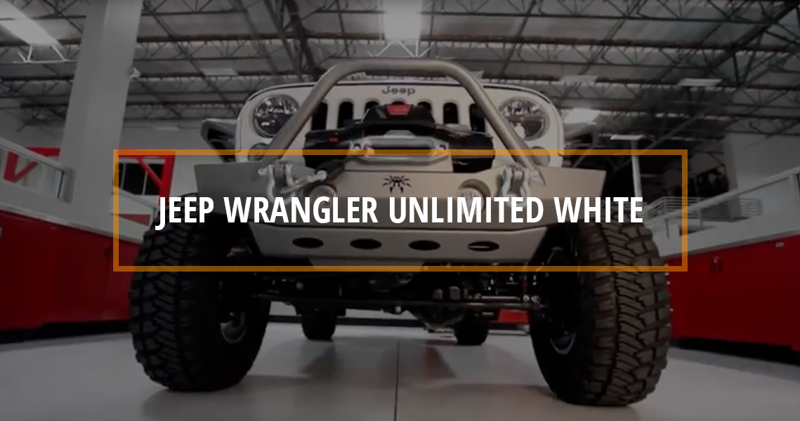 STOCK to ROCK Jeep Wrangler Unlimited White Teaser